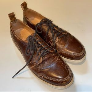Bed stu distressed leather brown dress shoes 11.5